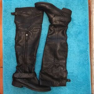 Over the knee Tall Leather Boots